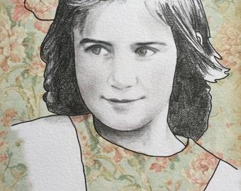 Hand Rendered Custom Portrait Illustration