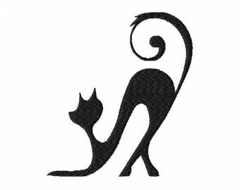 Program for machine embroidery design embroidery elegant cat and vintage (file)