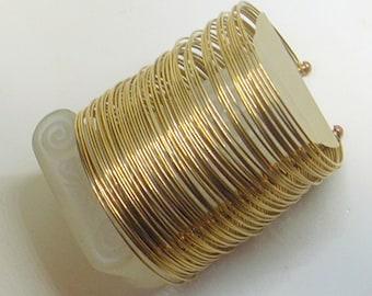 Vintage Bangle Bracelets - Sale - Free Shipping - Gift Bracelet - Very Wide - Row Of 50+ Bangles  - Tumbaga - Mexico