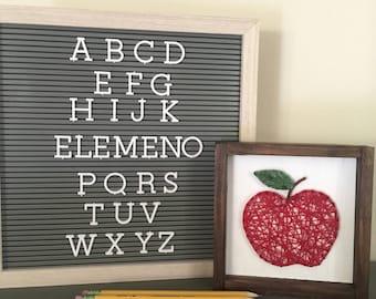 Framed apple string art