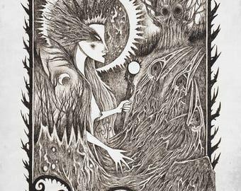 The Morrigan A3 print