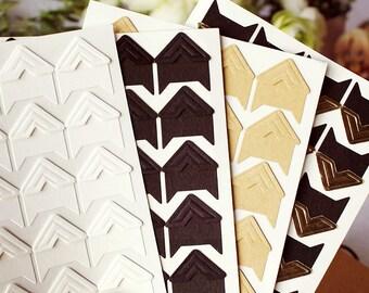 120 pcs Paper Photo Corners Stickers // Scrapbooking Embellishment // Journal Decoration T05