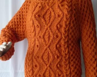 NEW l Orange fashion point Irish sweater