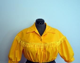Square dance western blouse Plus size
