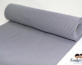 cuff white darkblue small stripes fabric