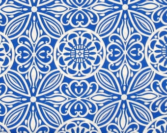 Blue and White Medallion Design 100% Cotton Quilt Fabric Blender for Sale, Modern Mixers 2874-77 from Studio E