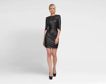 Leather Dress, Latex Dress, BDSM, Sexy Dress, Black Dress, Gothic Dress, Bodycon Dress, Black Cocktail Dress, Evening Dress, LBD