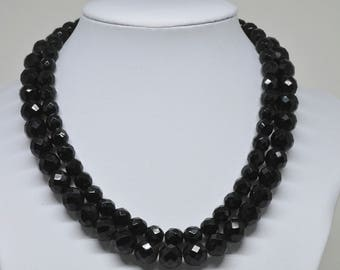Gorgeous Black Beaded Necklace