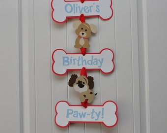 Puppy Party Door Sign,  Puppy Pawty Door Sign,  Puppy Welcome Sign, Puppy Birthday