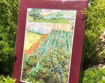 VanGogh art print 4x6 field with flowers