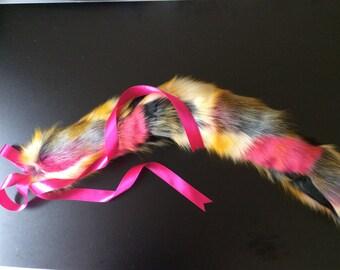 """31"""" Luxury Harlequin Kitten Play Tail"""