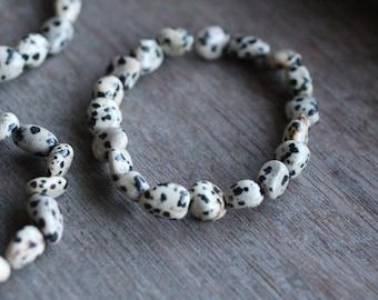 Dalmatian Jasper Bracelet B52