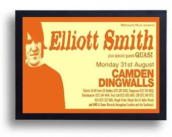 Elliott Smith Framed Gig Poster Print