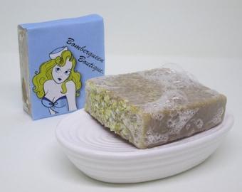 Honey, oats and goats milk soap bar, Cold process, vegan friendly, gentle soap, unfragranced, natural soap