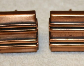 Vintage Renoir copper cuff links