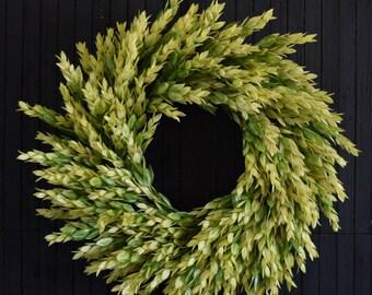 Bright Greenery Front Door Wreath