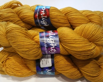 Yarn sock weight-100% merino high twist- harvest