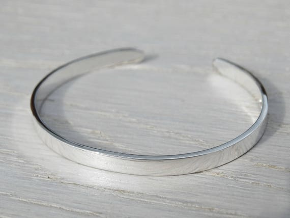 Sterling Silver Childrens Bangle - Christening Bracelet, Baptism Gift With Stamped Name