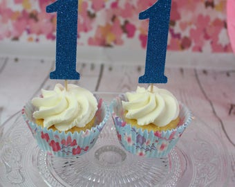 Birthday Number Cup Cake Toppers
