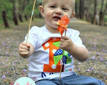 Pinwheel Birthday Shirt-Pinwheel Birthday-Boys Pinwheel Birthday-Girls Pinwheel Birthday-Pinwheel Birthday-Birthday Shirt 1-9