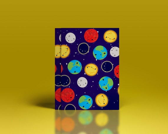 Printable Kawaii Outer Space Gift Wrap: Out Of This World