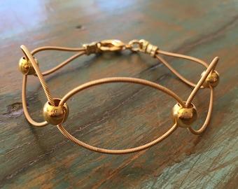 Guitar string bracelet, Recycled bracelet, Music jewelry, Guitar bracelet, infinity symbol