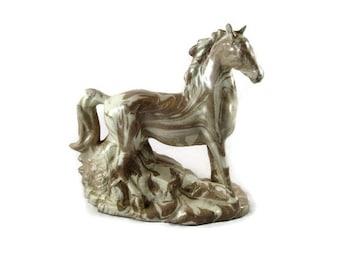 Mount St. Helens Ash Ware Horse Figurine Volcanic Ash Art
