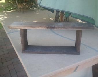 barnwood shelf small