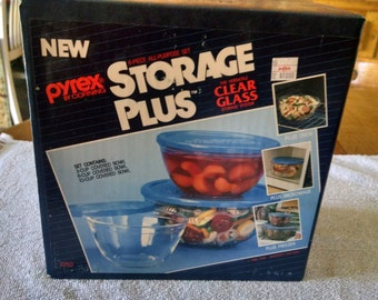 pyrex by corning 6 piece covered bowl set sealed in original box