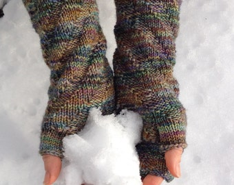 Remolino Spiral Fingerless Gloves Knitting **Pattern** in English and Spanish