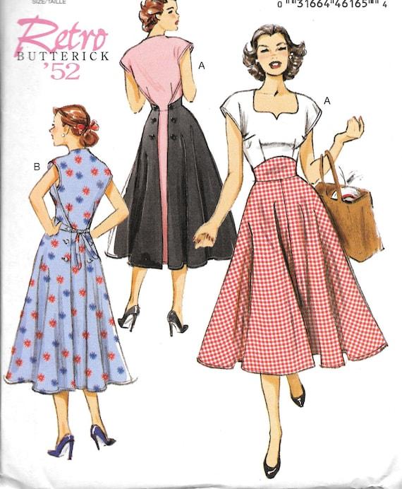 Butterick 6212, Misses Retro Dress Sewing Pattern, Retro \'52, New ...