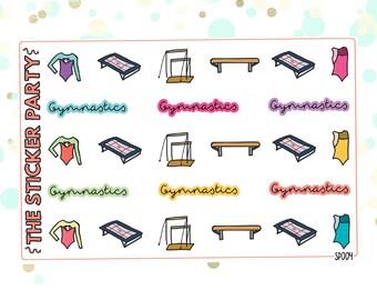 Gymnastics Planner Stickers
