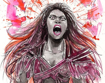Ember Moon painting