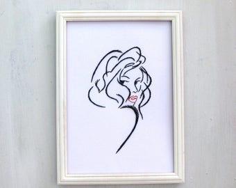 Women string art, string art, stringat,made to oder,home decor,rustic decor,sign,wall decor,wall art,anniversary gift