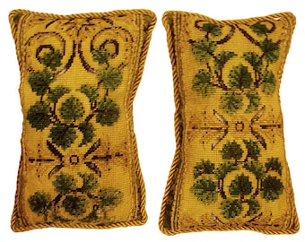 A Pair of 17th century Brussels Needlepoint Pillows
