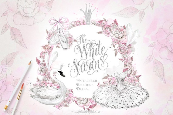 Ballet Clipart Watercolor Ballerina White Swan Lake