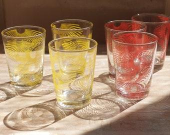 A set of 1950's/60's Atomic Shot Glasses