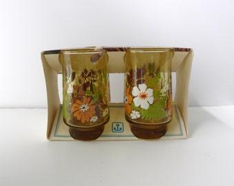 Vintage Anchor Hocking Juice Glasses New Old Stock