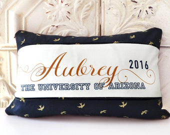 Personalized graduation pillow, college graduate gift, high school graduate gift, graduation gift,