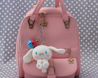 white puppy, purse charm / keychain ( Ready to ship)