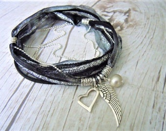 anklet boho feather leaves apache silver olizz