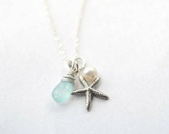Sterling Silver Starfish Necklace - Beach Bridesmaid Gift - Summer Wedding Ideas - Beach Theme Wedding - Sea Star Necklace - Ocean Jewelry