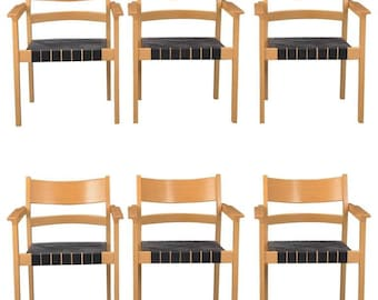 Set of Six Hans J. Wegner Armchairs GE881