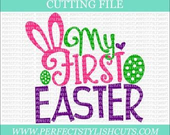 My First Easter Svg - Easter SVG, DXF, PNG, Eps Files for Cameo or Cricut - Easter Bunny Svg, Peeps Svg, Easter Baby Svg