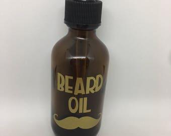 Beard Oil Essential Oil Label for a 2oz. bottle (bottle not included)