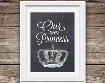 Our Little Princess - PRINTABLE Nursery Art - INSTANT DOWNLOAD