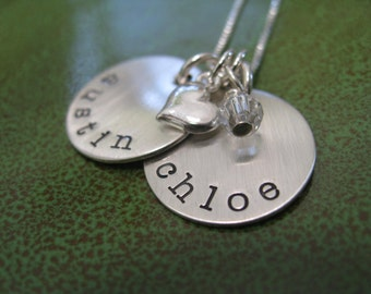 Personalized Hand Stamped Sterling Silver Necklace Simply   Swank