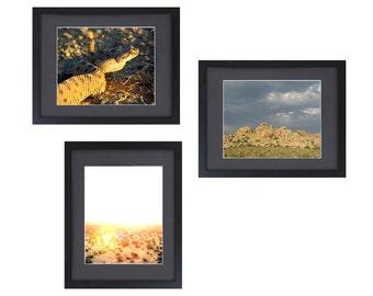 Joshua Tree Photography Set / Nature Photography - Rattle Snake, Rock Pile, Desert Art - Desert Photography - Nature Photograph