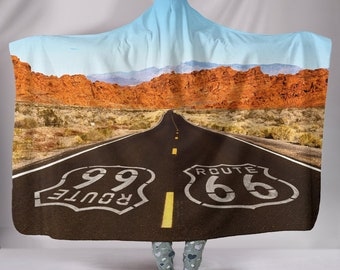Route 66 Design Hooded Blanket Personalized Specially Priced