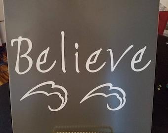 "Styled Tiles ""Believe"""